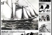Collage med lokalhistoriske fotos fra Holbæk. Udarbejdet af Isefjorden.com