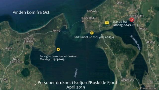Googl kort - redigeret af Isefjorden.com