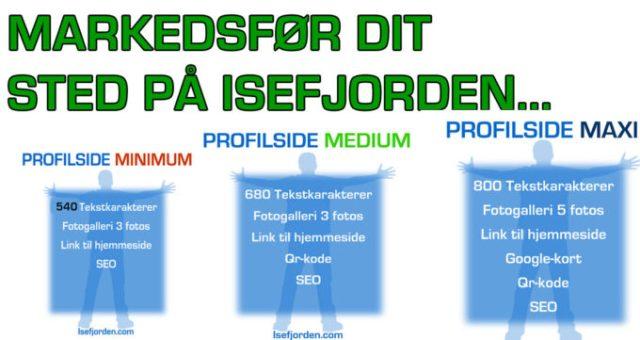 Markedsfør din turistattraktion eller sted på Isefjorden.com med en profilside