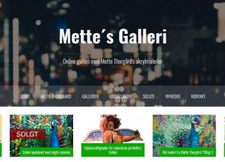 Mettes Galleri - Hjemmeside
