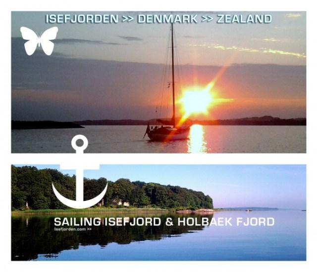 Collage sailing Isefjorden Denmark. Isefjorden.com