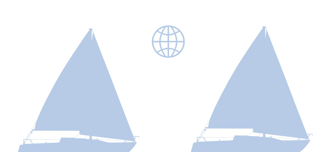 Sejlbåd og globe - Isefjorden.com