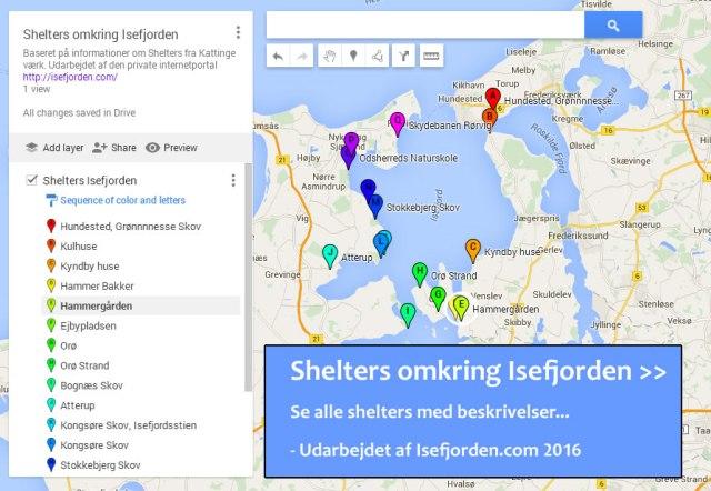 Google Kort Isefjord Sjaelland Danmark Isefjorden Danmark