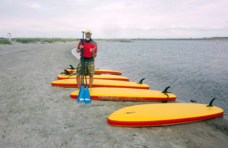Gratis stand up paddel-kursus på Holbæk bystrand