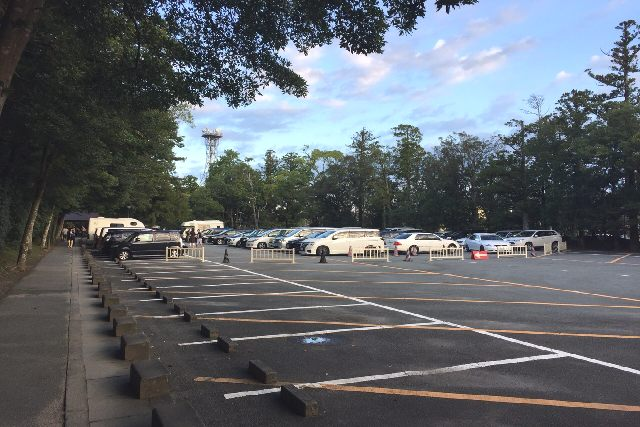伊勢神宮の駐車場2