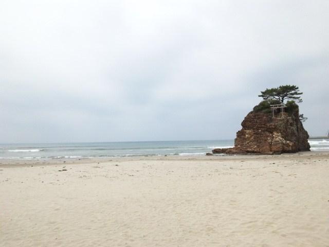 神迎神事の稲佐の浜