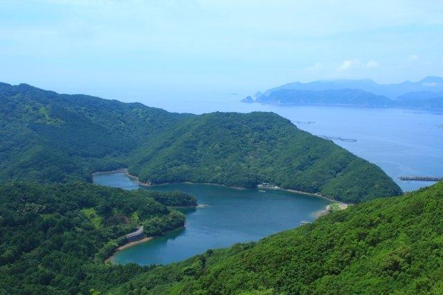 青夏のロケ地(見江島展望台)