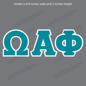 Lee University Omega Alpha Phi Old School Window Bumper Sticker Car Decal