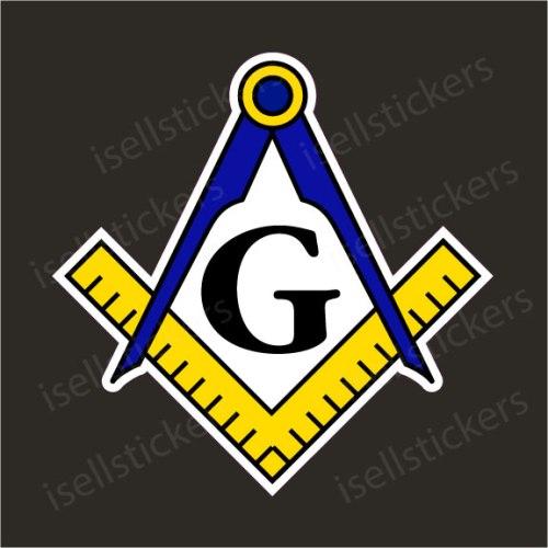 Freemason Compass Masonic Mason Auto Car Bumper Sticker Window Decal