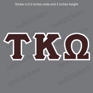 Tau Kappa Omega Old School Car Window Decal Bumper Sticker