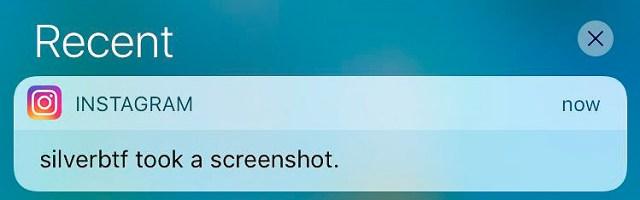 Aviso de que alguien ha hecho un screenshot de tu historia en Instagram