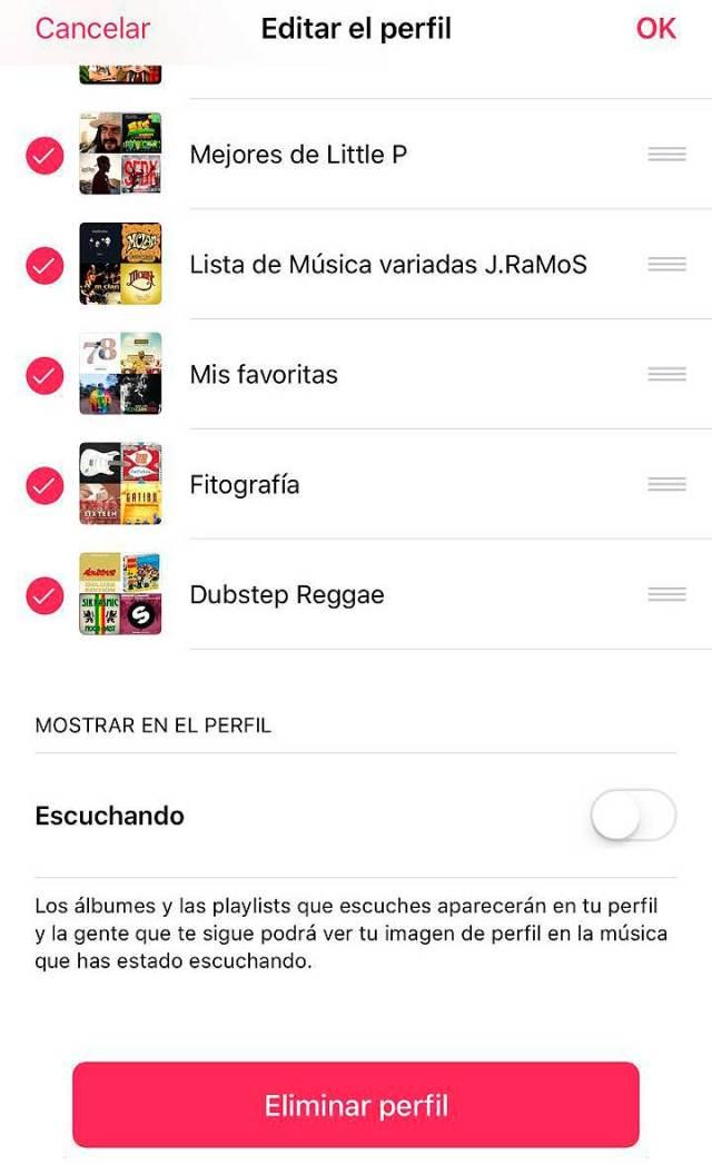 Cómo desactivar el histórico de las canciones que escuchas en Apple Music y de lo reproducido en tiempo real