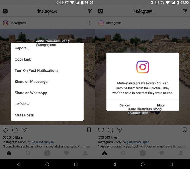 Instagram y el nuevo modo para silenciar a los usuarios sin dejar de seguirlos