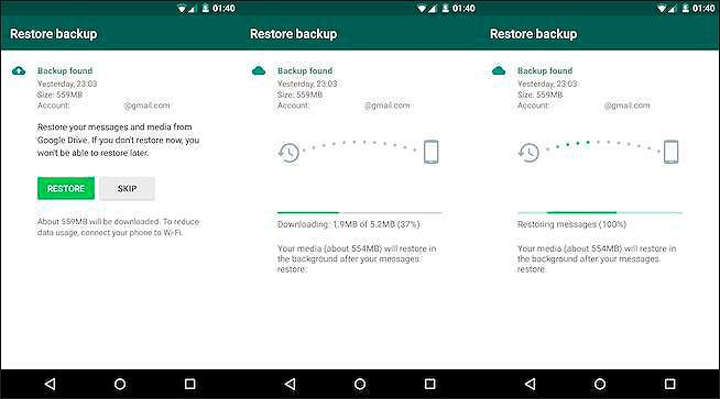 En breves tus copias de seguridad de WhatsApp no restarán espacio a tu Google Drive