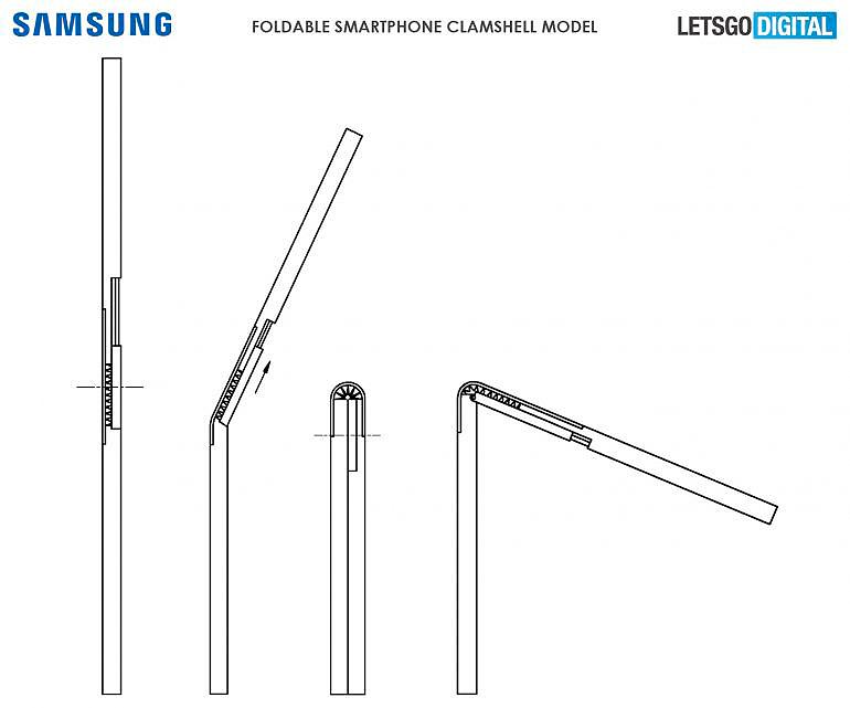 Samsung lanza una patente de un smartphone con pantalla plegable hacia dentro, al contrario que el Samsung Galaxy Fold