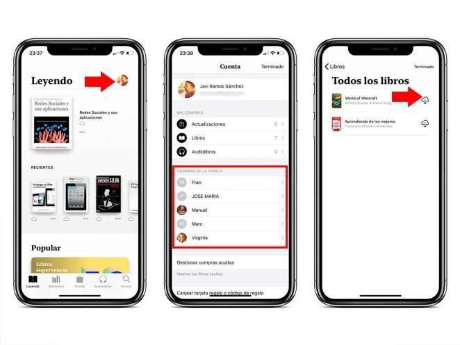 Cómo descargar libros de los demás miembros de la familia de Apple