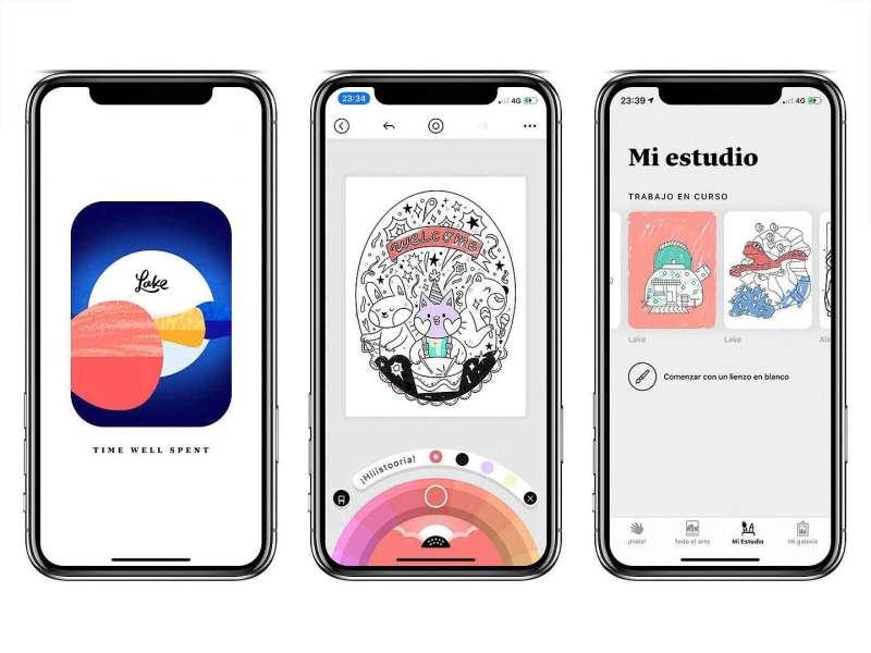 Ejemplo de Lake Coloring en el iPhone
