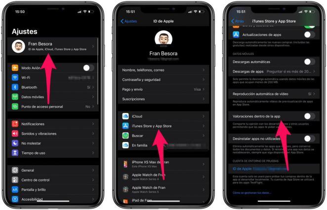 Cómo desactivar las notificaciones de valorar app en iOS
