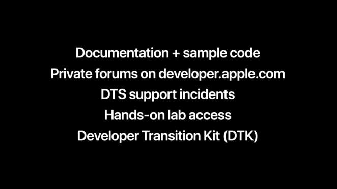 El developer transition kit en su interior