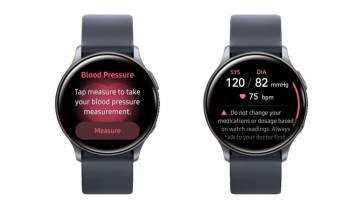 Presión arterial en smartwatch