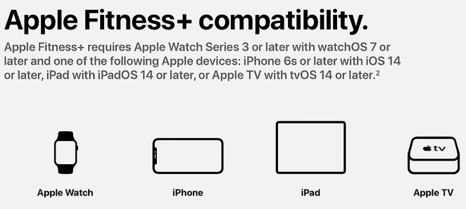 Compatibilidad de Apple Fitness+