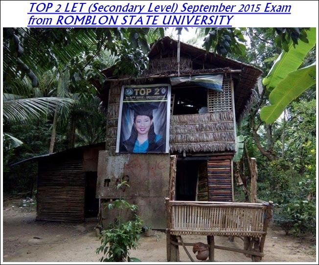 Iah Seraspi TOP 2 LET Secondary Level September 2015 Exam