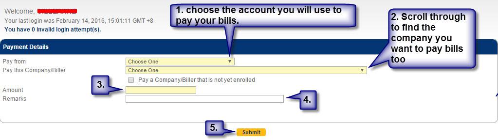 step 4 bdo bills payment