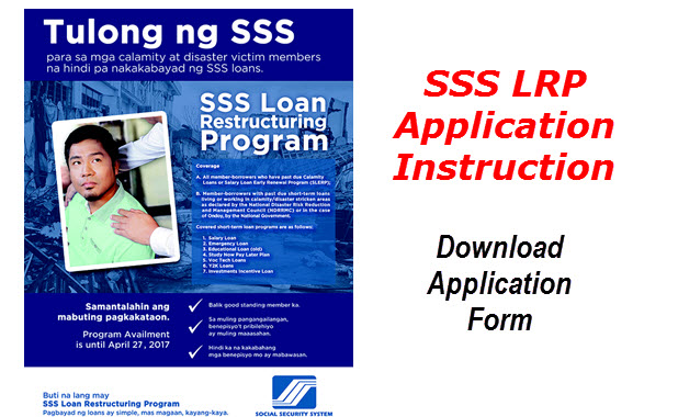 SSS Loan Restructuring Program Download Application Form and INSTRUCTIONS