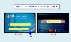 find account number on bpi atm card
