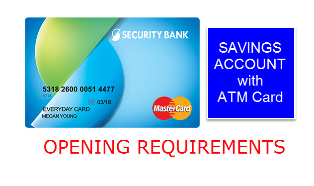 Security Bank Credit Card Requirements