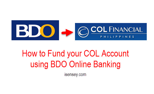 Fund COL account using BDO Online
