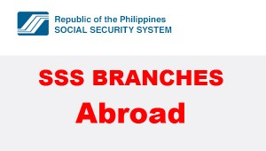 SSS Branches abroad and location addresses