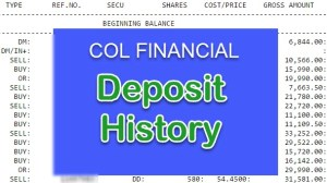 Find deposits to COL Financial