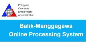 OEC Payment via Balik Manggagawa Online Processing System