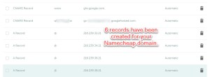 Creating CNAME and A Record in Namecheap Domain to use blogger hosting