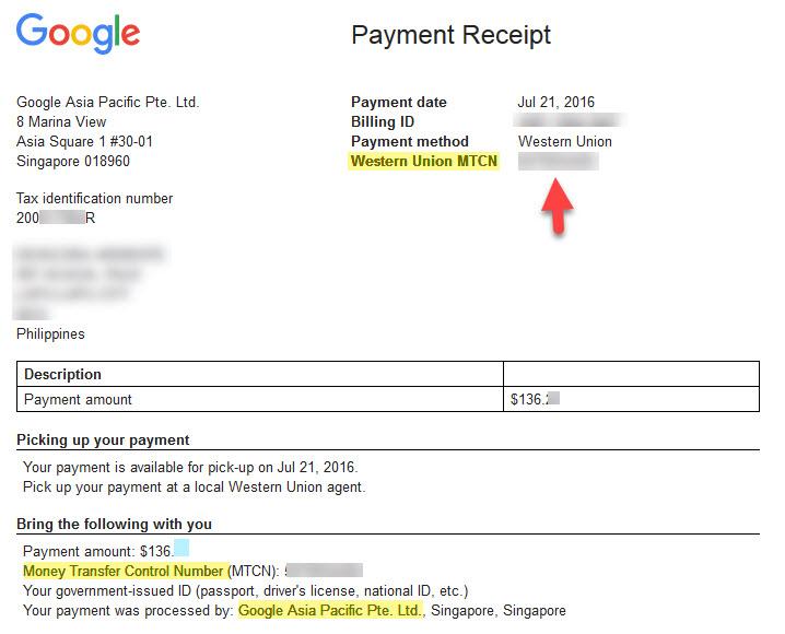First Payment Google Adsense New Blog