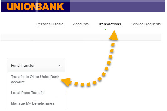 how to transfer unionbank to unionbank without enrollment