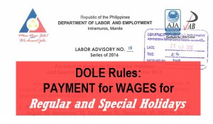 DOLE Holiday Pay Rules for Daily Paid Employees
