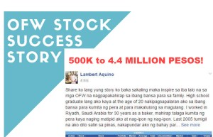 OFW Investment in Stocks
