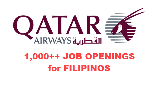 Qatar Airways Recruitment 1000+ Job Openings for Filipinos