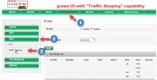 PLDT DSL Traffic Shaping Limit Bandwidth