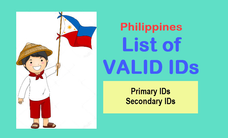 Philippines valid ids list of primary and secondary ids isensey philippines valid ids primary secondary voltagebd Image collections