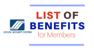SSS list of benefits for members