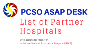 2018 List of Hospitals with PCSO ASAP Desks