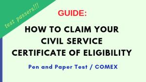 civil service certificate claiming