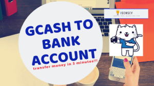 transfer Gcash funds to bank account