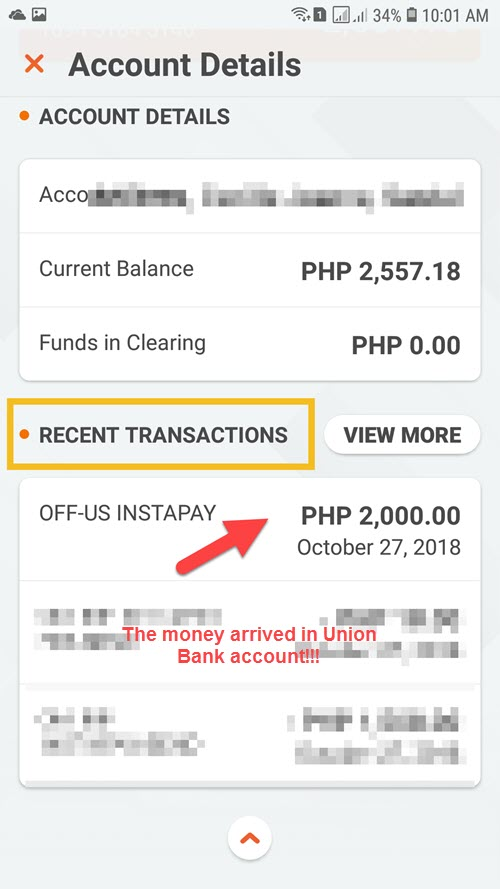 transfer Gcasht to Bank account