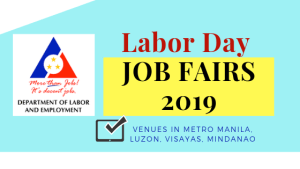 DOLE Labor Day JOB FAIRS 2019