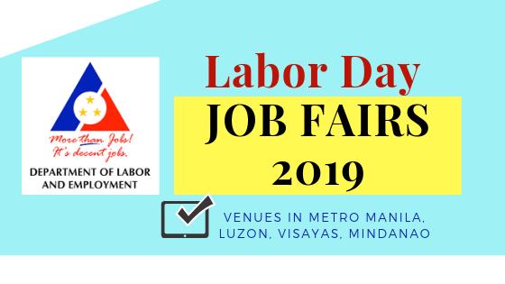 DOLE Labor Day JOB FAIRS 2019