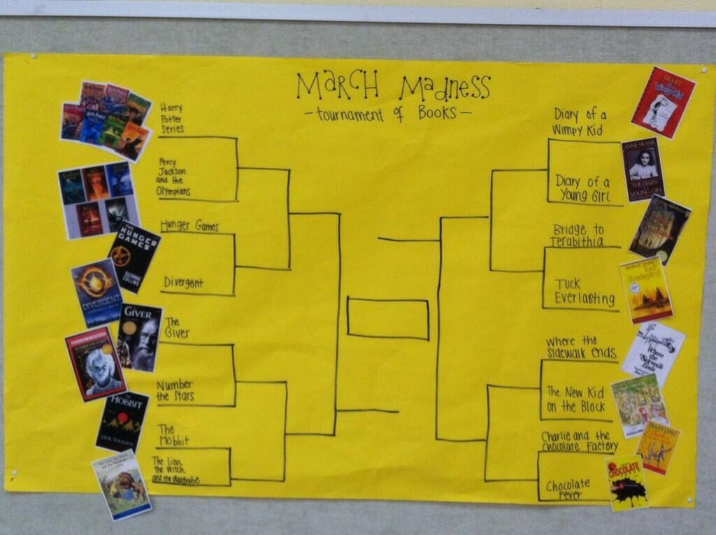 promote reading with march madness iserotope